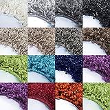 *Teppich* für Wohnzimmer günstig hochflor Shaggy Teppich mit verschiedenen Farben und Größen* Teppiche werden mit 100% PP Headset hergestellt. Gesamthöhe des Teppichs circa 30 mm. , Farbe:Mocca, Größe:80x150 cm