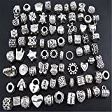 DIY antiker Silber Schmuck Pandora Style Glasperlen, handgemachte Perlen Armband-material