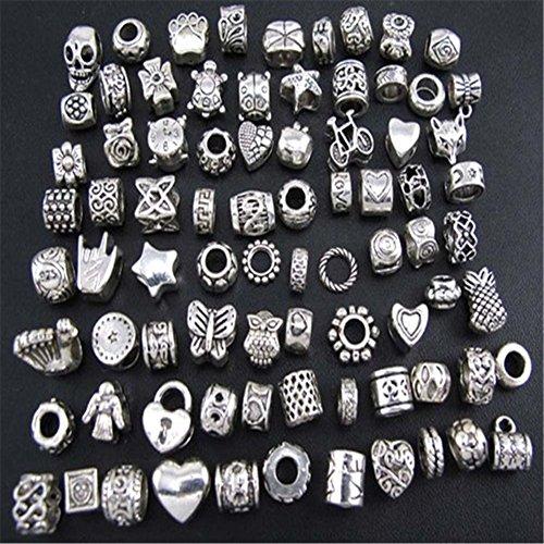 Perlen Schmuck Charms Und (DIY antiker Silber Schmuck Pandora Style Glasperlen, handgemachte Perlen Armband-material)
