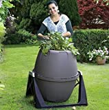 Tumbling Composter Barrel 180L Soil Earth Leaf mould Kitchen Garden Waste Rotate