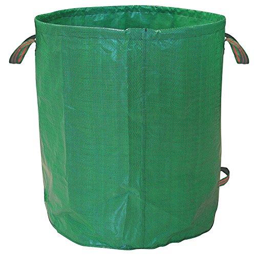 HOOMIL Gartensack 125L Gartenabfallsäcke aus Robustem Polypropylen-Gewebe (PP) Faltbare Laubsäcke Gartensäcke