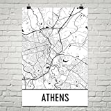 Athen GA Poster, Athen GA Kunstdruck, Athen GA Wandkunst, Athen GA Karte, Athen GA Stadtplan, Athen GA Georgia Stadtplan Kunst, Athen GA Geschenk, Athen GA Dekor, (12
