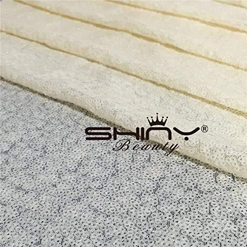 ShinyBeauty Pailletten-Stoff Elfenbein 4 Meters für Pailletten Hochzeit Kleid/Pailletten Tischdecke/Hintergrund/Vorhang/Tischläufer DIY Nähen