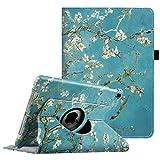 Fintie iPad Pro 9.7 Zoll Hülle - 360 Grad Rotierend Stand Cover Case Schutzhülle Tasche Etui mit Auto Schlaf/Wach Funktion für Apple iPad Pro 9.7 Zoll (2016 Modell), Mandelblüten