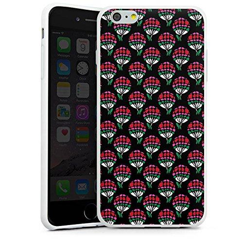 Apple iPhone X Silikon Hülle Case Schutzhülle Blumen Muster Dreiecke Silikon Case weiß