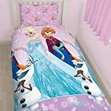 Disney Character World Frozen Magic Rotary Bettwäsche-Set, Mehrfarbig, Multi, Einzelbett
