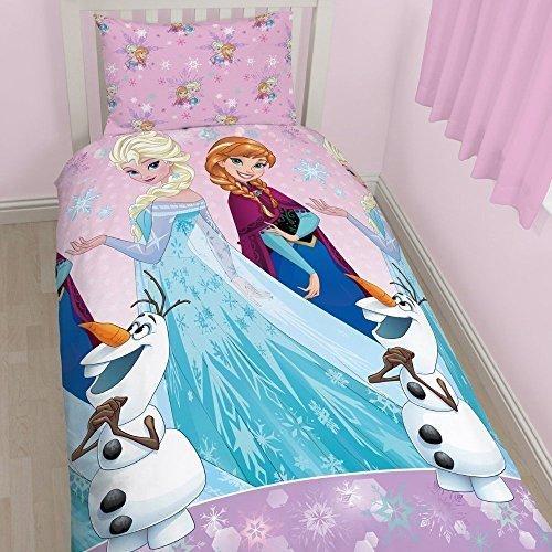 Disney Character World Frozen Magic Rotary Bettwäsche-Set, Mehrfarbig, Multi, Einzelbett