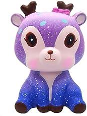 hou zhi liang Langsam Rising Squishies Jumbo, Kawaii Galaxy Deer Scented Squishy Charme langsam Rising Simulation-Kind-Spielzeug-Schlüssel-Handy-Anh?nger Strap Geschenk HauptDécor