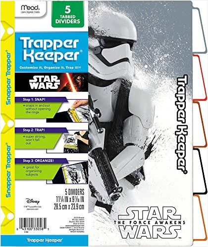 star-wars-le-reveil-de-la-force-trapper-keeper-5-separateurs-a-onglets-verticaux-par-mead-motifs-ass