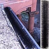 2x Dachrinnenbürste Dachrinnenschutz Dachrinnenwalze 79x12cm Durchmesser
