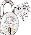 RAMSON Major Deluxe Steel Double Locking 7 Lever Lock with 5 Keys (57 MM)