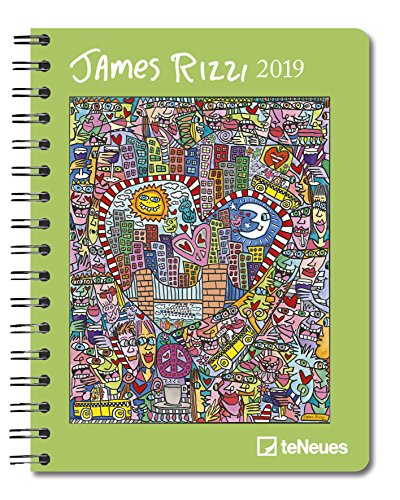 James Rizzi 2019 - Buchkalender, Taschenkalender, Diary  -  16,5 x 21,6 cm