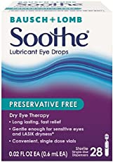 Bausch Lomb Soothe Lubricant Eye Drops Single-Use Dispensers 28 Each