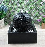 Wehmann Lotus Fontaine solaire pour jardin et terrasse de jour et de nuit
