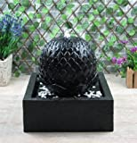 Solarbrunnen 'Lotus' Solarspringbrunnen mit Memoryfunktion Garten Brunnen Komplettset für Garten, Zengarten und Terrasse Tag und Nacht !!!