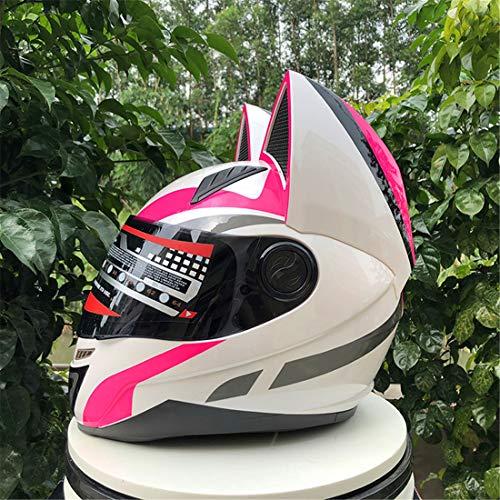 YXNB® Casco Adulto de Motocicleta Mujeres