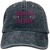 GPGPP Fashion Bitches Pay Pattern Jeans Cap Vintage Adjustable Hat Four Colors Unisex Baseball Caps Navy