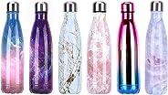 YCFIRE Bottiglia Acqua in Acciaio Inox 500ml, Senza BPA, Isolamento Sottovuoto a Doppia Parete per 24 Ore Freddo & 12 Caldo,