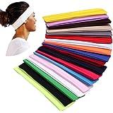 YMHPRIDE 18 Stks Sport Yoga Hoofdband Stretchy Band Haarband voor Meisjes Dames