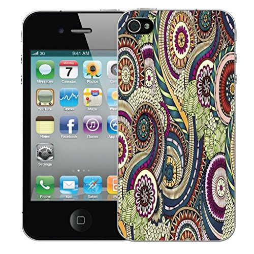 Mobile Case Mate iPhone 4s clip on Dur Coque couverture case cover Pare-chocs - elegant petal Motif complex patterns