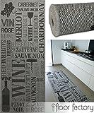 Küchenteppich Pinot Grigio grau 80x200 cm - günstiger Küchenläufer