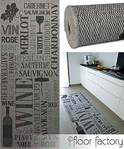 Tappeto cucina pinot grigio grigio 80x200 cm passatoia for Piani domestici a buon mercato