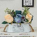 Jnseaol Kunstblumen Künstliche Blumen Diy Gefälschte Blumen Wohnzimmer Windowsill Hochzeit Party Küche Hause Wok Urlaub Geschenke Topfpflanzen Blau-15