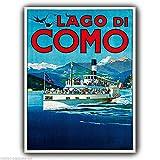 Metall Schild, See Como Italien Vintage Adver Poster