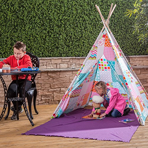 kids-play-tent-floral-patchwork-teepee-indian-wigwam-style-with-matching-bag