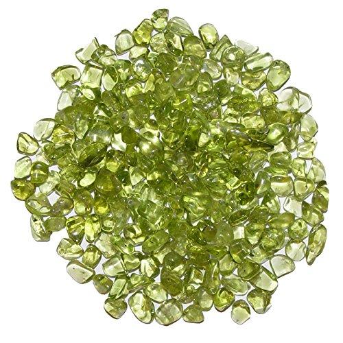 Peridot - Olivin 500 g mini Edelsteine Trommelsteine Größe ca. 2-4 mm schöne Farbe