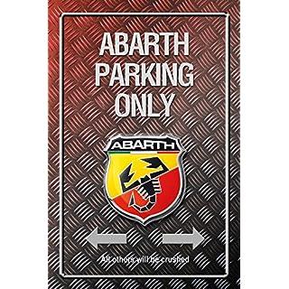 Abarth Parking only Metallic blechschild