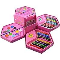 Nivido Enterprise Coloring Barbi doll Kit Combo | Colors Box Color Pencil,Crayons, Water Color, Sketch Pens Set of 46 in…