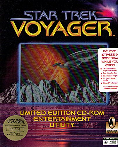 Preisvergleich Produktbild Star Trek,  Voyager,  1 CD-ROM Limited Edition Entertainment Utility. Screen savers,  80 audio clips,  40 video clips,  80 images,  jigsaw puzzles,  and wallpaper. For Windows 3.1x / 95