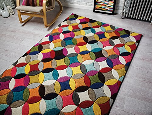 Spectrum - Alfombra / Tapete con diseño moderno y abstracto - Multicolor Mambo 120 x 170cm