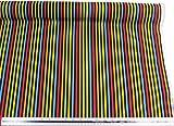 Kinder gestreift schwarz gelb blau rot grün orange 100%