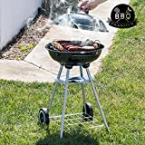 Barbacoa de carbón con tapa y ruedas BBQ Classics