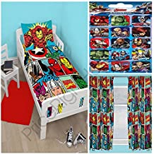 Marvel Comics huelga Junior juego de funda de edredón + A juego 137,16cm cortinas + free Small pegatinas