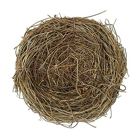 2Pcs 10cm Natural Rattan Birds Nest Spring Decoration Props Garden