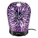 Footprintse 100ml Diffuseur D'huile Essentielle 3D Electrique d'arômes Ultrasonique Humidificateur Cool Mist 4 Réglage de l'heure 8 Changement de Couleur LED Lumière Arrêt Automatique