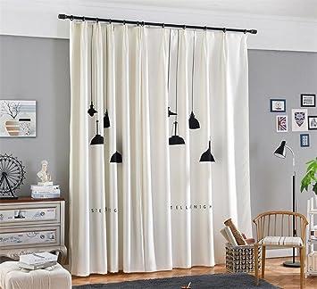 High Quality Vorhang 3D Schwarz Kronleuchter Print Stoffe Europäische Stil Semi Shading  Pleat Moderne Minimalistische Kinder Schlafzimmer Wohnzimmer Dekor White  Window ...