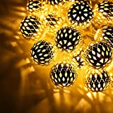 16LED Moroccan Balls String Lights For Home Decoration Festival Decor Lights Diwali Christmas