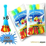 Water Balloons Filler Toys with Different Colors by Cosy Zone -Only Fill in 60 Seconds -3 Bunches 111Pcs or 6 Bunches 222Pcs for Choice