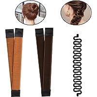 TIMESETL 2pcs Hair Bun Maker + 1pcs Moda francese intrecciare i capelli strumento,Magic Twist Styling per capelli…