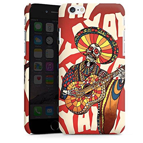 Apple iPhone X Silikon Hülle Case Schutzhülle Mariachi Totenkopf Gitarre Premium Case matt