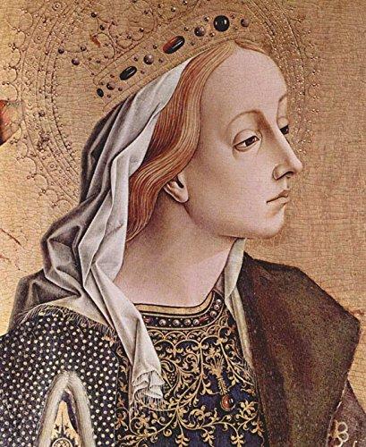 Das Museum Steckdose Altarpolyptychon von San Francesco in-Montefiore dell'Aso-Tafel, Hl. Katharina von Alexandrien, Detail-Poster (Medium)