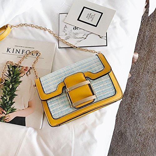 Big bag Hit farbe damen Schulter tasche Freizeit Flow Große kapazität tragbare handtaschen Gelb