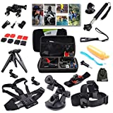 EEEKit 216015 Outdoor Sports Professional 21-in-1 Kit for GoPro Hero4/3+/3/2/1 with Shockproof Carrying Case (Black)