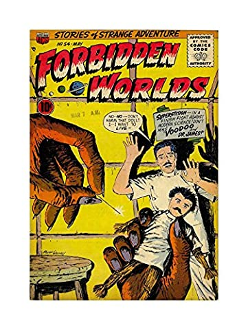 SUPER HERO COVER ACG BOOK FORBIDDEN WORLDS 54 VINTAGE COMIC FRAMED ART PRINT PICTURE MOUNT F12X1139