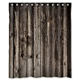 Welcome!Waterproof Decorative Rustic Old Barn Wood Art Shower Curtain 60x72-6 by Shower Curtain