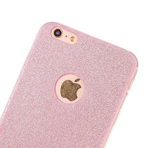 "iPhone 6s Hülle, iPhone 6 Handytasche, CLTPY Ultradünn Weich TPU Schutzfall Shinning Glitzer Kristall Schale Etui für 4.7"" Apple iPhone 6/6s + 1 x Stift - Rosa Rosa"